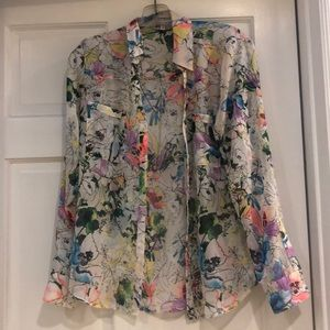 Express floral blouse in size s